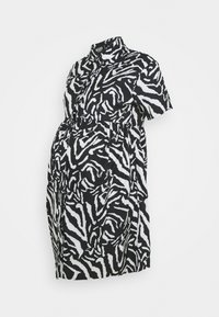 Missguided Maternity - SMOCK DRESS ZEBRA - Shirt dress - black - 0