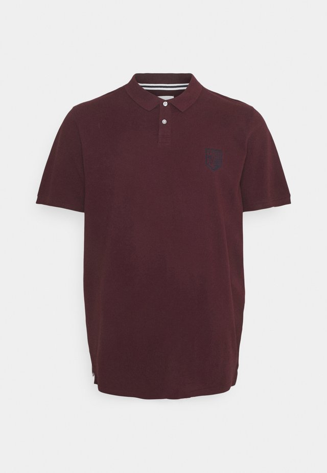 Polo shirt - port royal/bordeaux