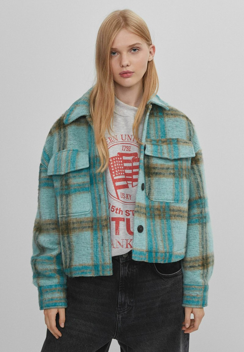 Bershka - Summer jacket - turquoise
