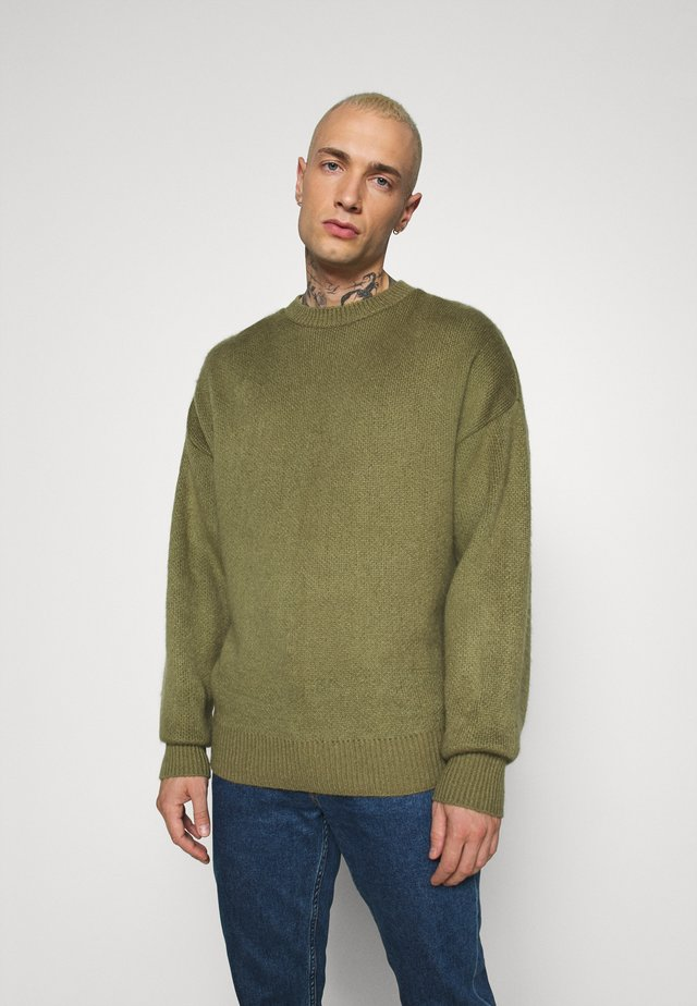 BRUSHED DROP SHOULDER JUMPER - Jumper - khaki