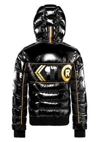 JACK1T - Denim jacket - black/wet black/gold - 5