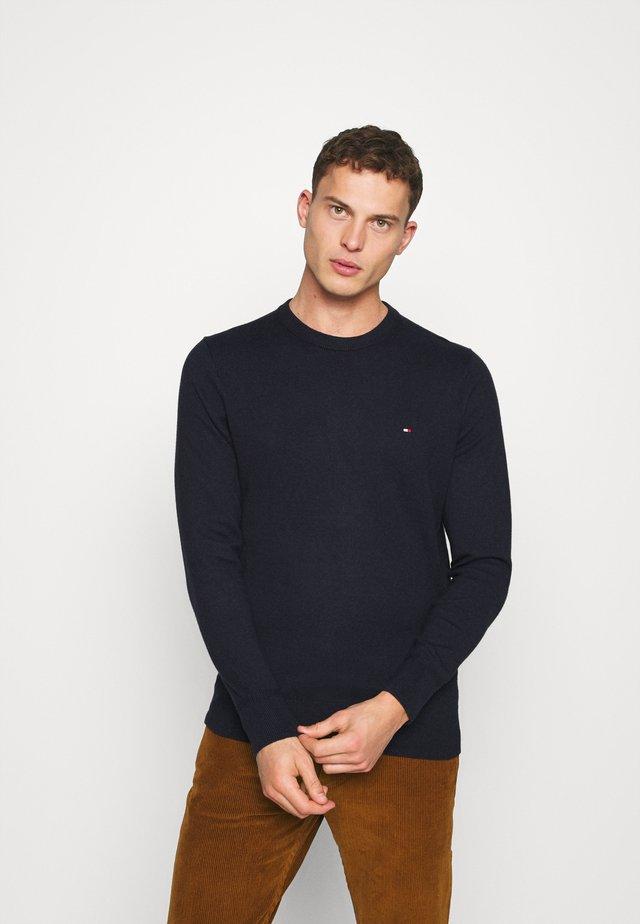 PIMA CREW NECK - Sweter - blue
