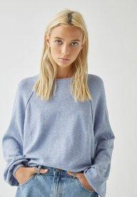 PULL&BEAR - Long sleeved top - mottled blue - 3