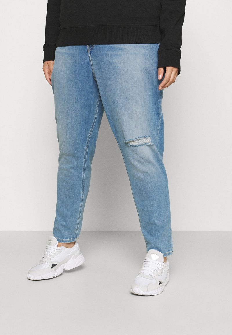 Calvin Klein Jeans Plus - HIGH RISE SKINNY ANKLE - Skinny džíny - denim light