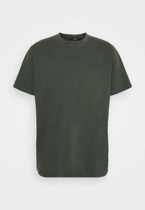 BAND TEE - Jednoduché triko - dark military
