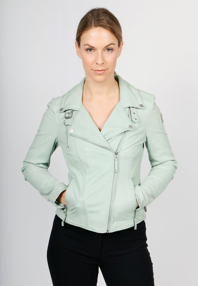 BIKER PRINCESS - Leather jacket - mint