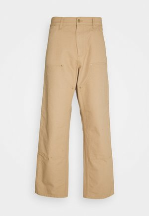 DOUBLE KNEE PANT DEARBORN - Trousers - dusty brown rinsed