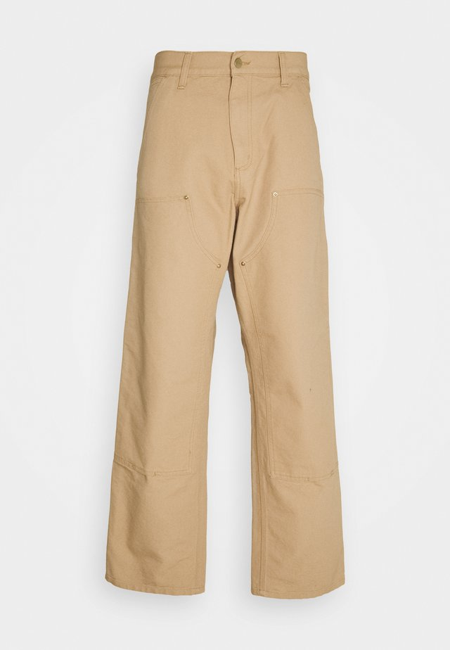 DOUBLE KNEE PANT DEARBORN - Pantaloni - dusty brown rinsed