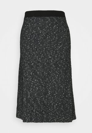 DARWIN - A-line skirt - dark grey/black