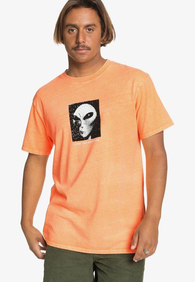 Print T-shirt - orange pop