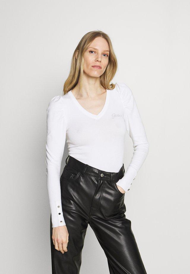 CAROLE V-NECK - Maglione - true white