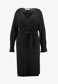 PINA WRAP DRESS - Jersey dress - black deep