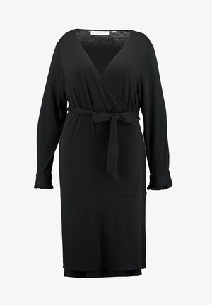 PINA WRAP DRESS - Jerseykjoler - black deep