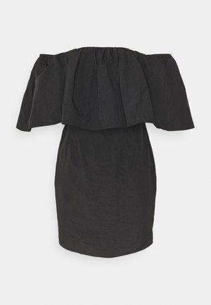 FRILL BARDOT MINI DRESS - Cocktail dress / Party dress - black