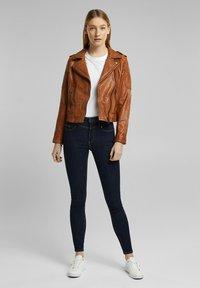 Esprit - Leather jacket - toffee - 1