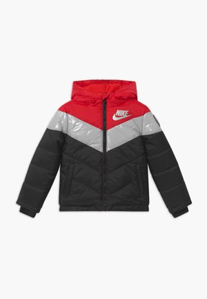 COLOR BLOCK HEAVY PUFFER - Winter jacket - university red