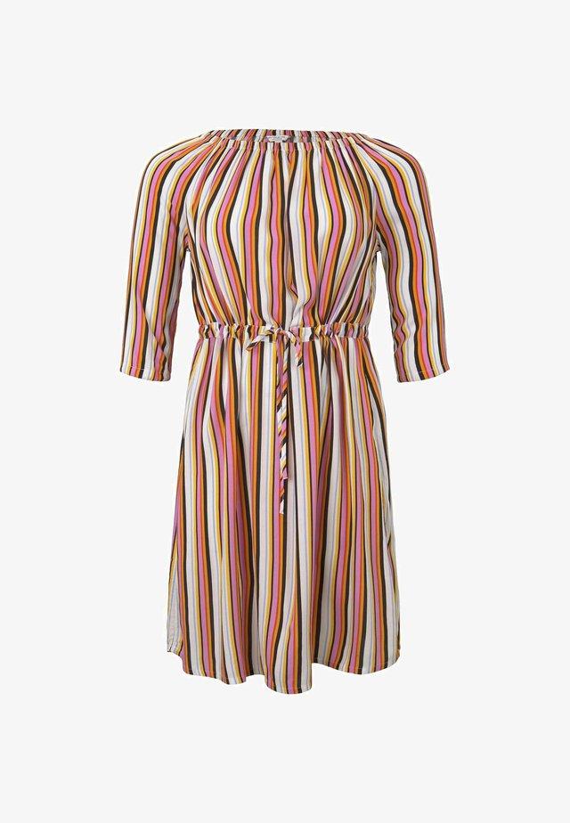 KLEIDER & JUMPSUITS SCHULTERFREIES CARMEN- - Korte jurk - mutlicolor stripe