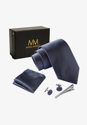 4 PIECE SET - Mouchoir de poche - grau gestreift