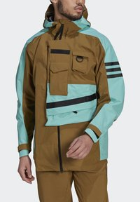 adidas Performance - XPLORIC RAIN JACKET - Hardshell jacket - wild moss/acid mint - 6