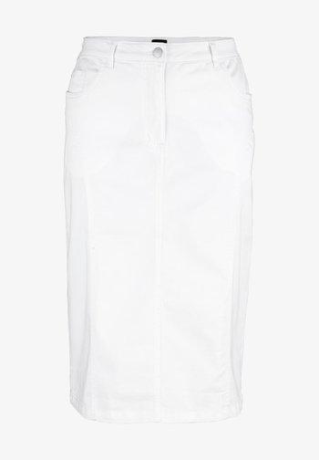 Denim skirt - weiß