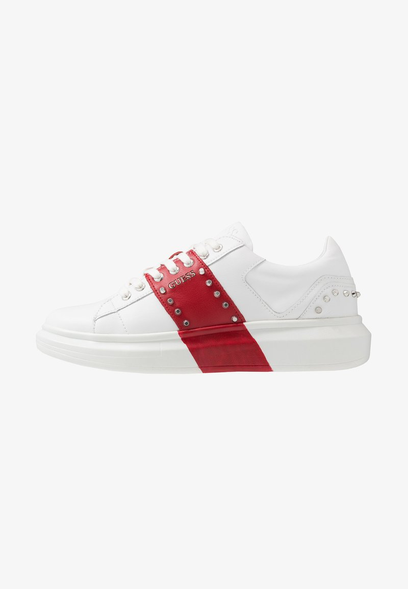 Guess - KEAN - Sneakers - white/red