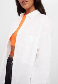 Bershka - Button-down blouse - white - 3