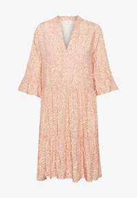Saint Tropez - Day dress - terra cotta zig zebra - 5