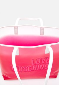 Love Moschino - TRANSPARENT LOGO SHOPPER SET - Tote bag - pink - 4