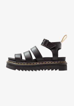 BLAIRE - Sandały na platformie - black felix