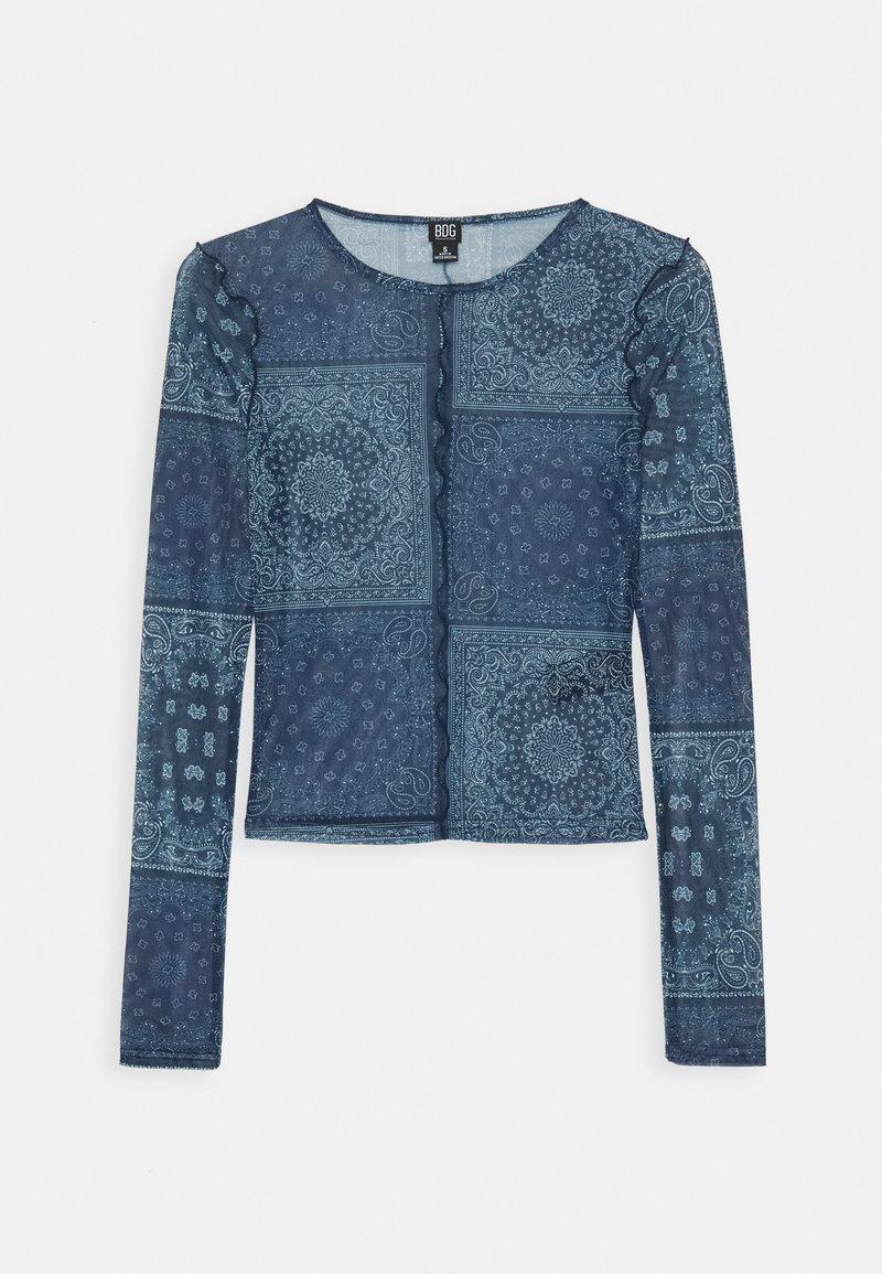 BDG Urban Outfitters - PRINT TOP - Blůza - blue