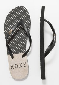 Roxy - VIVA STAMP  - Chanclas de dedo - black - 3