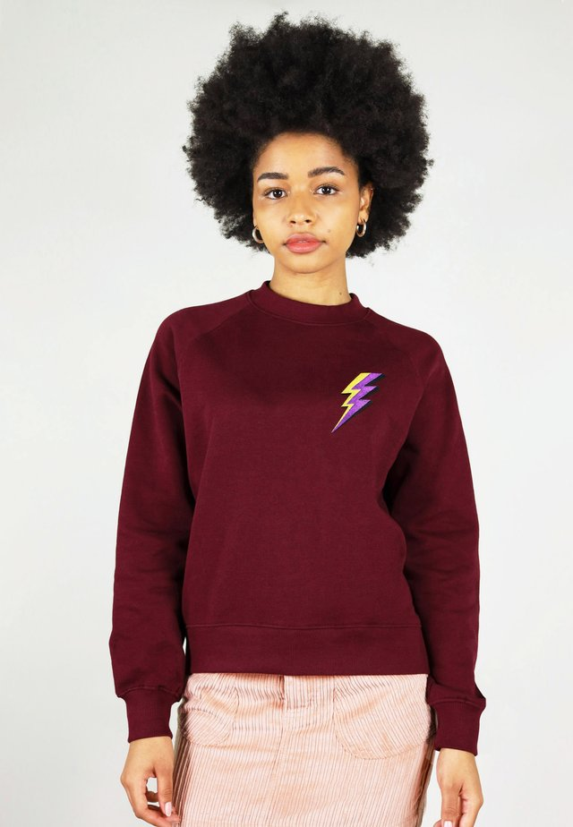 THUNDER - Sweatshirt - burgundy
