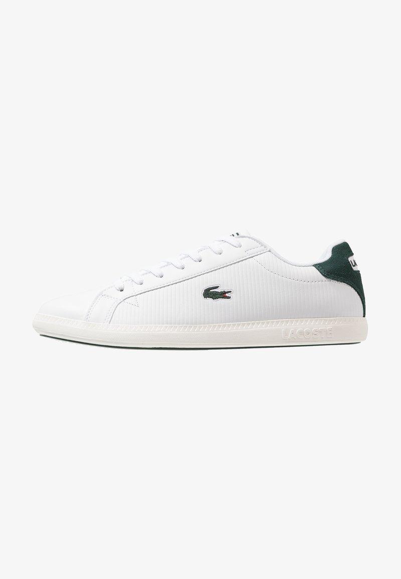 Lacoste - GRADUATE - Zapatillas - white/dark green