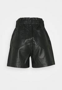 TOM TAILOR DENIM - FAKE SHORTS - Shorts - deep black