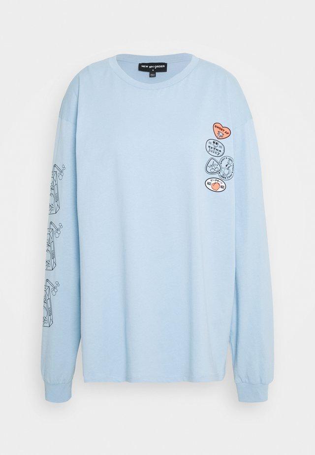 REFRESH JUICE TEE - Langærmede T-shirts - blue