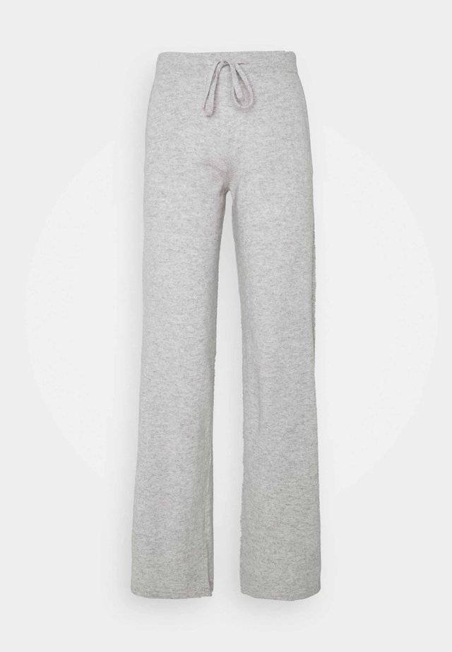 ESSENTIALS WIDE LEG PANT - Bukser - silver