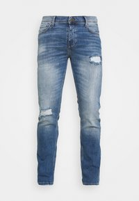 KNOXVILLE RIPS - Slim fit jeans - light blue