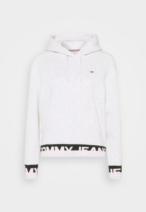 BRANDED HEM HOOD - Sweat à capuche - silver grey heather