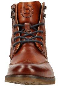 Bugatti - LUSSORIO - Lace-up ankle boots - cognac - 5
