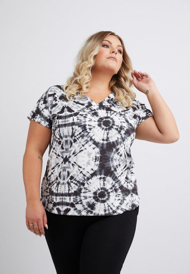 No.1 by Ox - TIEDYE - Print T-shirt - black