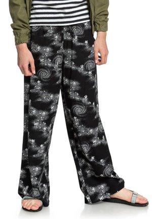 Trousers - black cosmic rip