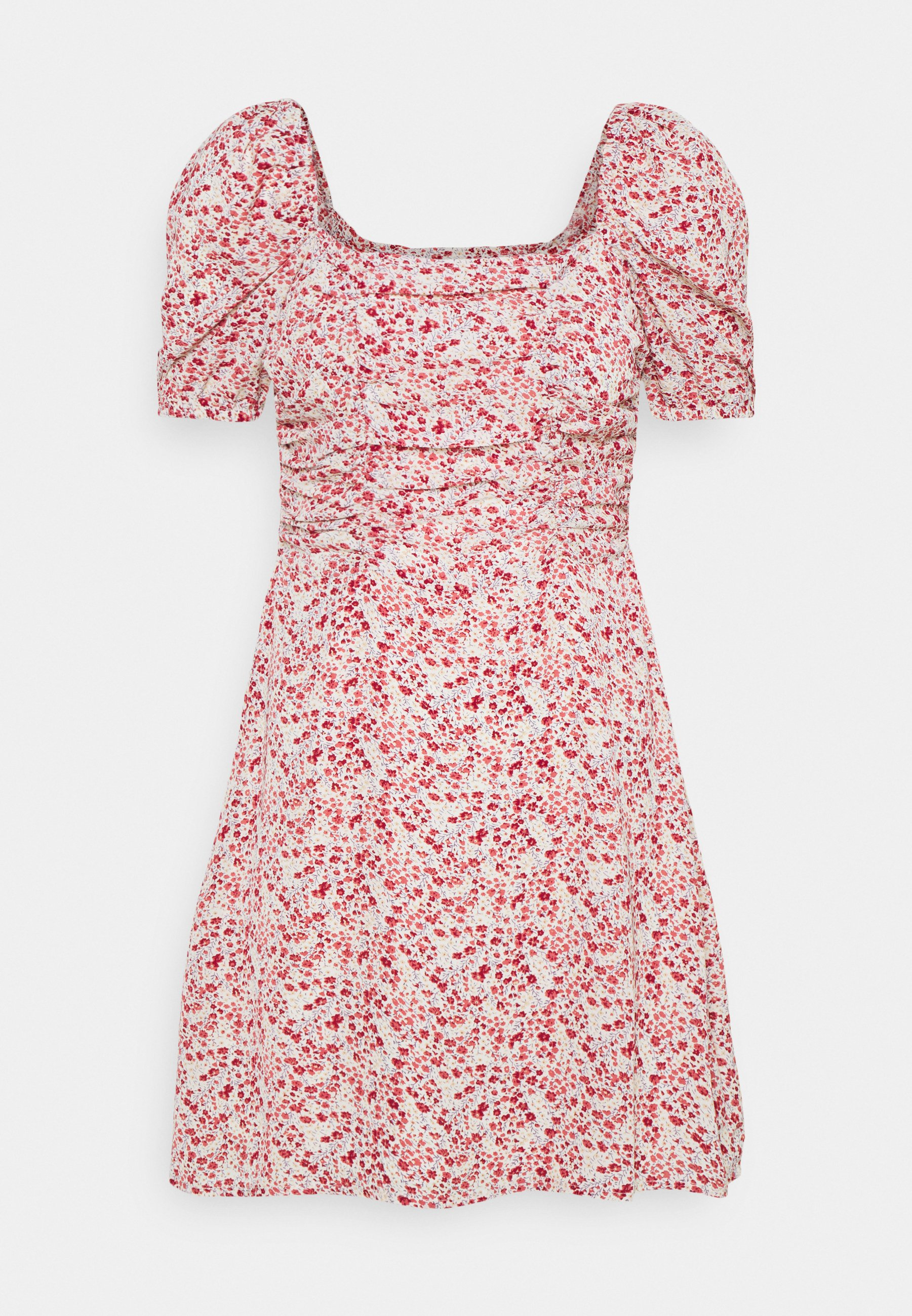 Women DITSY RUCHED PUFF SLEEVE SKATER DRESS - Day dress