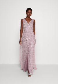 Maya Deluxe - WRAP MAXI DRESS WITH CAPE DETAIL - Galajurk - lilac - 1