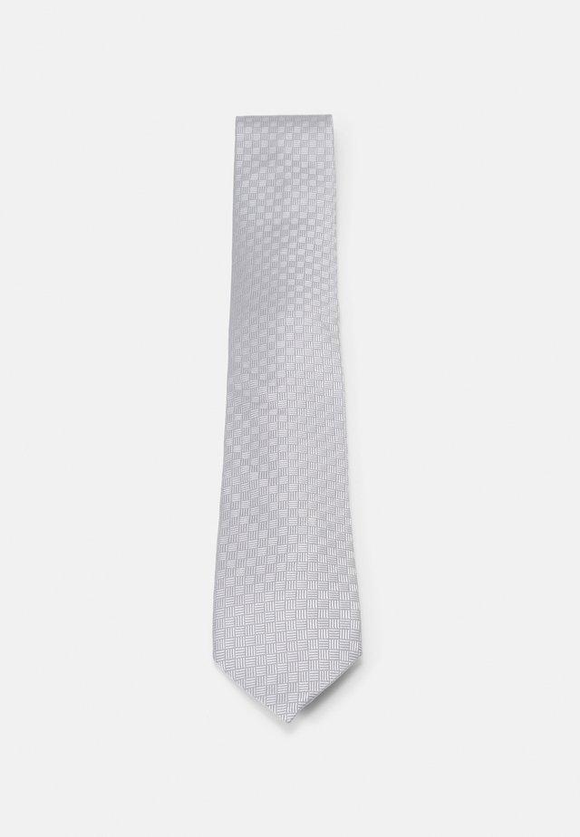 CROSSHATCH SOLID - Cravatta - grey