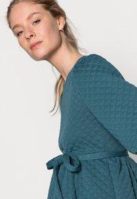 MAMALICIOUS - MLINA SHORT DRESS - Jersey dress - mallard blue - 3