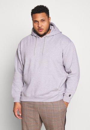 PLUS FLASH HOODIE - Bluza z kapturem - grey marl