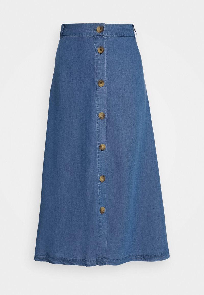 ONLY Tall - ONLMANHATTAN SKIRT - A-linjainen hame - dark blue denim