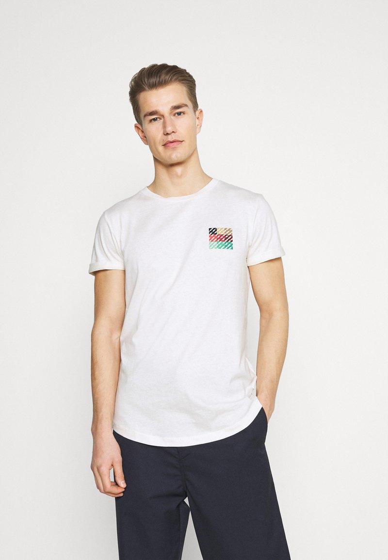 TOM TAILOR DENIM - Print T-shirt - wool white