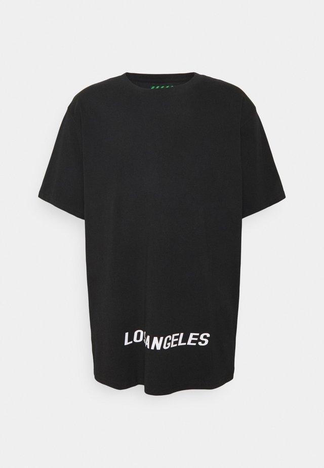 LOS ANGELES UNISEX - Triko spotiskem - black