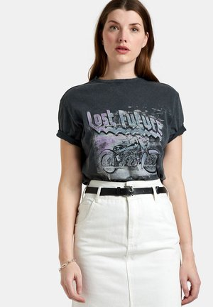 LEXIE WASHED TEE - T-shirt med print - grey